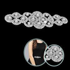 Diamante Rhinestone Applique Motif Sew on for DIY Embellishment Wedding Dresses