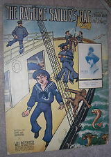 1912 THE RAGTIME SAILOR'S RAG Sheet Music GRACE WILSON by Phil Schwartz, Walsh