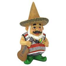 Mexican Garden Gnome Wearing Sombrero Folk Art Statue Yard Garden Sculpture