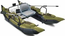 Colorado Inflatable Fishing Pontoon Boat With Motor Mount