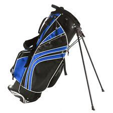 Golf Stand Cart Bag Club w/6 Way Divider Carry Organizer Pockets Storage Blue