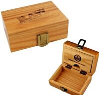 RAW WOOD BOX SOLID BAMBOO WOODEN STASH STORAGE MAGNETIC