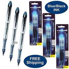 Uni-Ball Vision Elite, Blue Black Ink, 3 Pens Plus 3 Pk of Refills, 0.8mm Bold