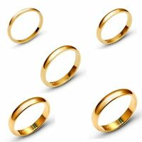 Solid 10k Yellow Gold 2mm-6mm  Comfort Fit Men Women Wedding Band Ring Sz 5 -13