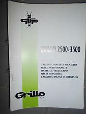 GRILLO motoculteur 2500 3500 : catalogue pièces 1997
