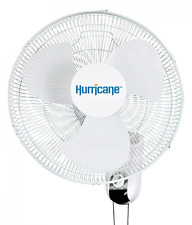 Hurricane Fans Wall Mount Oscillating Fan 16-Inch Patio Garden Lawn Outdoor New