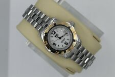 Tag Heuer 2000 WN1350 White SS 18K Rose Gold Watch Womens Professional Silver