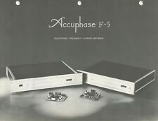 Accuphase F-5 Original Electronic Frequency Dividing Network Brochure