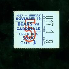 1967 (Nov. 19) Chicago Bears ticket stub v. St. Louis Cardinals (VG condition)