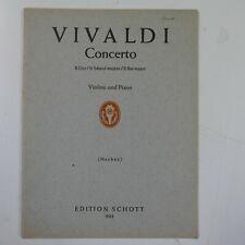 violin / piano VIVALDI concerto Bb , schott 903
