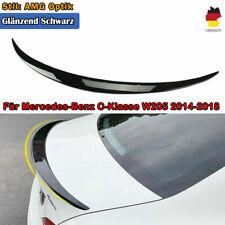 für Mercedes W205 Limo Heckspoiler AMG LOOK Lackierte Schwarz Spoiler Flügel