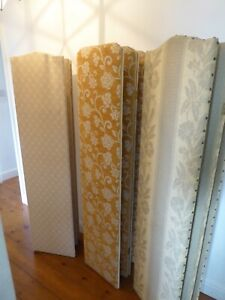 Choice Of Vintage Four Panel Dressing Screens Reupholstered.