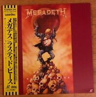 Megadeth Rusted Pieces (1991) Japan Laserdisc OBI Metallica LD