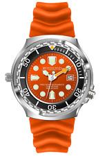 Armee Taucher Herrenuhr Orange 1000M Citizen 1S13 Helium Ventil Datumsanzeige