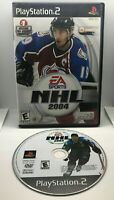 NHL 2004 - Alternate Hockey Cover - Case and Disc - Tested - Playstation 2 PS2
