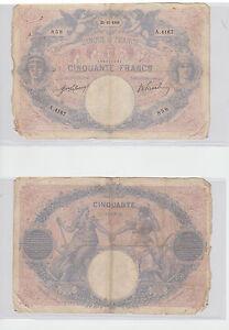 Billet  Banque de France  50  FRANCS ( BLEU ET ROSE ) du 21-11-1911 A. 4167