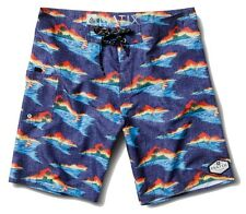 1918ffef30 Matix ALOHA CHAMBRAY Mens Boardshorts 34 Multi-Color NEW