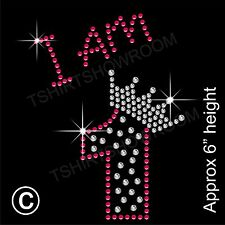 """I am 1"" Birthday Girl Rhinestone Transfer Hotfix Iron on Motif with a Free Gift"