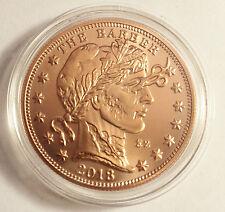 """NEW 2018 1 OZ """"ZOMBUCKS THE BARBER"""" .999 Pure Copper Bullion Coin a"""