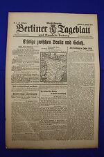 BERLINER TAGEBLATT (3.1.1917): Erfolge zwischen Braila und Galatz