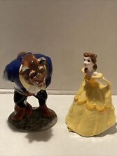 Disney Beauty And The Beast 2pc Porcelain Collectible Figures-EUC...Pristine