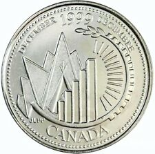 1999 Canada Millennium Series December 25 Cents Gem BU UNC Quarter!!