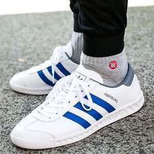 NEW Adidas Hamburg White Leather / Blue Stripe  Men's 10.5 spezial samba Trimm