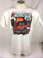 Vtg Route US 66 The Road Americas Main Street  Chevy Impala T Shirt XXL Cotton