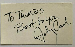 Johnny Cash ( 1932  - 2003 ) - Musiker - original Autogramm