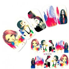 Tattoo Nail Art Aufkleber Model Manga Japan Anime Water Decall Neu
