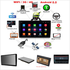 2Din 10.1inch Android 8.0 Octa-Core Car Stereo Radio Player GPS Wifi 3G/4G DAB