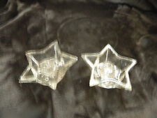 Star Taper Votive Glass Candle Holder/Set of 2/EXCELLENT CONDITION