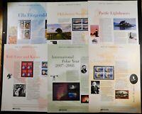 2007 USPS Commemorative Panel Set (26 Panels) Plus 45 Souvenir Sheets