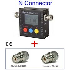 SURECOM SW102-N Digital Power & SWR Meter & Frequency counter FREE SO239 ADAPTOR