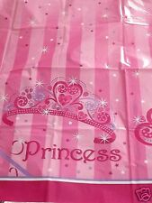 "Princess Stripe Table Cover, Birthday Party, Baby Shower, Bake Sale - 54"" x 84"""