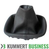 Schaltsack Schaltmanschette Echt Leder für VW Touran 2003-2008 Farbe Schwarz