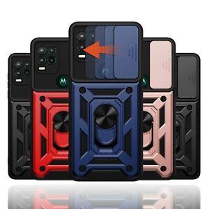 For Motorola Moto G Stylus 5G 2021 Case Camera Lens Slide Protection Ring Cover