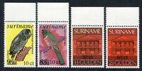SURINAM 1987 Vögel Birds Uccelli Oiseaux Architektur Freimarken 1201-04 ** MNH