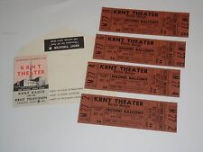 Victor Borge 4 Unused 1966 Theater Tickets and Will Call Envelope Krnt Theater b