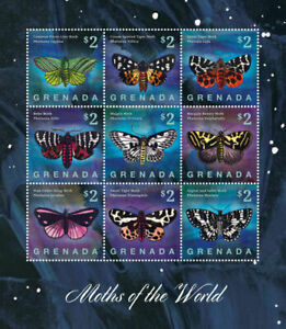 "GRENADA - 2014 MNH ""Insects - MOTHS Of The World"" Three Souvenir Sheets !!!"