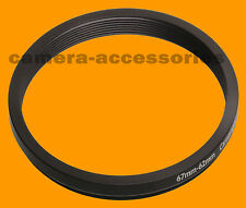 67mm A 62mm 67-62 Stepping Step Down filtro anillo adaptador 67-62mm 67mm-62mm
