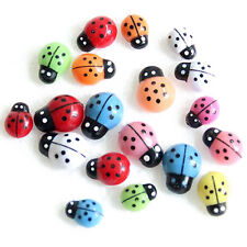 100pcs Colorful Ladybug Mini Wall Stickers Ladybird Home Decor AD