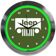JEEP Neon Clock - 4X4 - The American Legend - Since 1941  - Wrangler - CJ