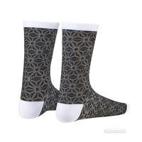 Supacaz SupaSox ASANOHA Tall Cycling Socks BLACK/WHITE One Pair
