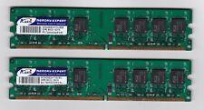 ADATA 2GB 2X 1GB RAM PC Dual Channel Memory 240-Pin DDR2 SDRAM DDR2 800 PC2 6400