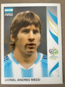 Panini 2006 WORLD CUP Germany LIONEL MESSI ARGENTINA STICKER #185
