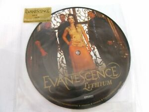 """EVANESCENCE  """"LITHIUM"""" ON WIND-UP LABEL PICTURE DISC 2006 [MINT]"""