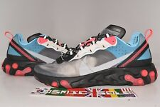 Nike React Element 87 Blue Chill Solar Red Style # AQ1090-006 Size 10