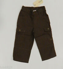 JACK & MILLY Boys Brown Cotton Pants Size 1 BRAND NEW NWT