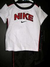 New Nike 2 pc shirt shorts set boys 24 months white navy red